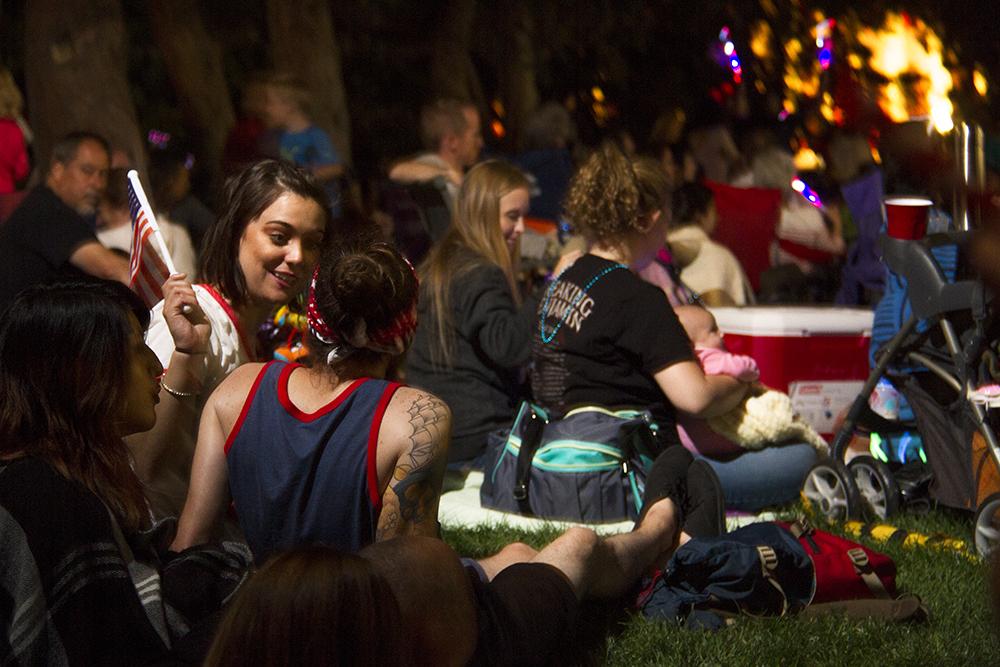 Fireworks on July 3, or Independence Day Eve. 2016. (Kevin J. Beaty/Denverite)  denver; denverite; colorado; civic center park; fireworks; fourth of july; july 4th; kevinjbeaty; independence day;