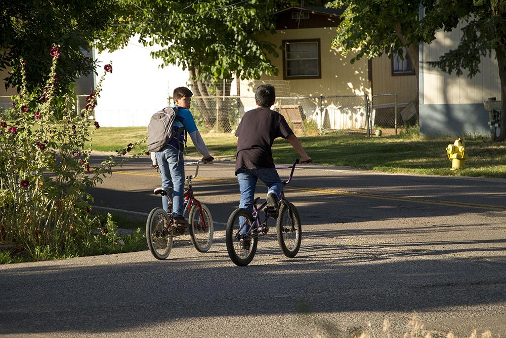 Kids wanted the Denver Meadows mobile home park. July 6, 2016. (Kevin J. Beaty/Denverite)  denver meadows; affordable housing; trailer park; development; denver; aurora; denverite; kevinjbeaty; colorado;