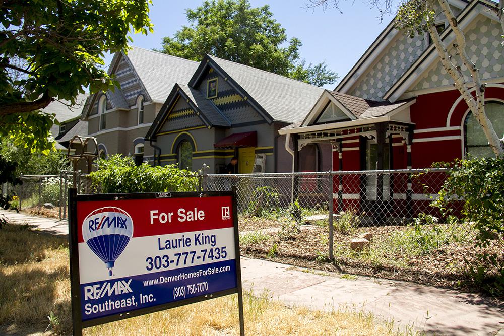 """For Sale"" in Baker. (Kevin J. Beaty/Denverite)"