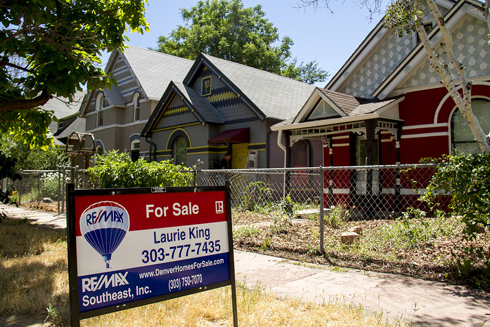 """For Sale"" in Baker. (Kevin J. Beaty/Denverite)"