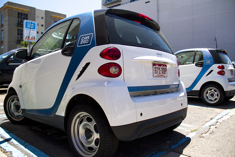 A Car2Go station in the GOlden Triangle. (Kevin J. Beaty/Denverite)