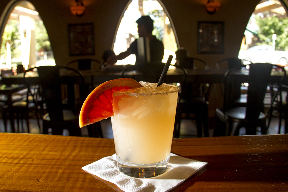 "The ""Paloma,"" illuminated at Paxia Bar on Tejon. (Kevin J. Beaty/Denverite)  food; grapefruit cocktail; denver; drinks; nightlife; kevinjbeaty; denverite; colorado;"