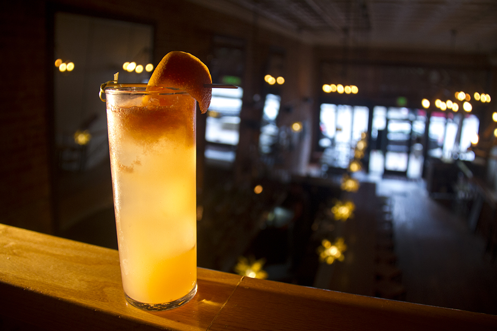 """Paloma,"" served at Leña on Broadway. (Kevin J. Beaty/Denverite)  food; grapefruit cocktail; denver; drinks; nightlife; kevinjbeaty; denverite; colorado"