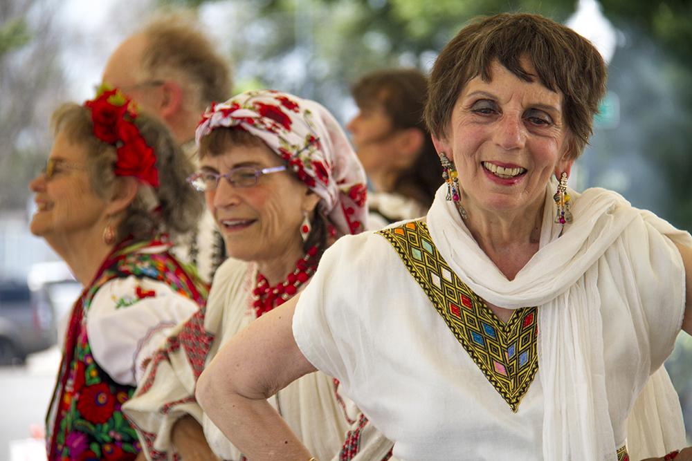 The one world Folk Dancers dance to traditional Polish music at Old Globeville Days in Argo Park, July 16, 2016. (Kevin J. Beaty/Denverite)  old globeville days; argo park; festival; eastern european; kevinjbeaty; denver; denverite; colorado;
