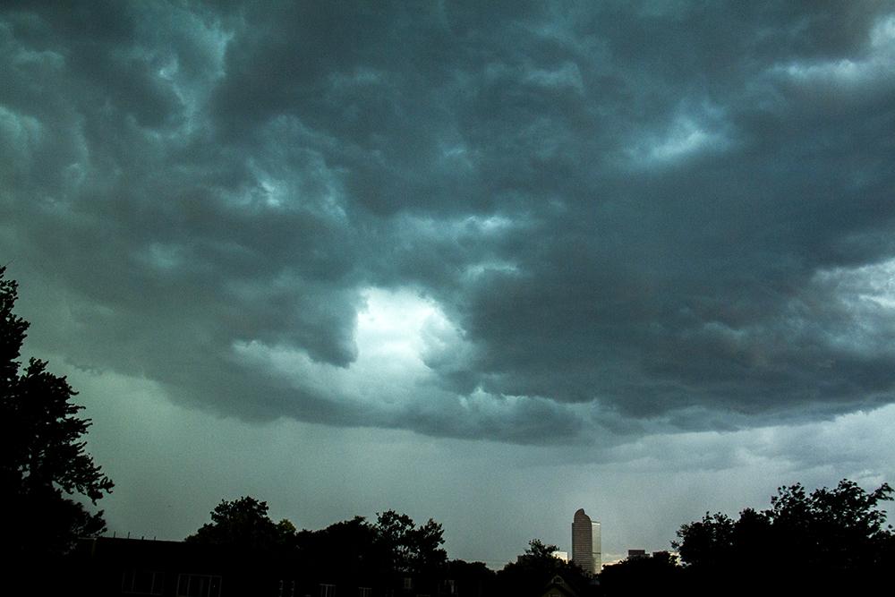 A lightning storm over Denver in summer 2016. (Kevin J. Beaty/Denverite)