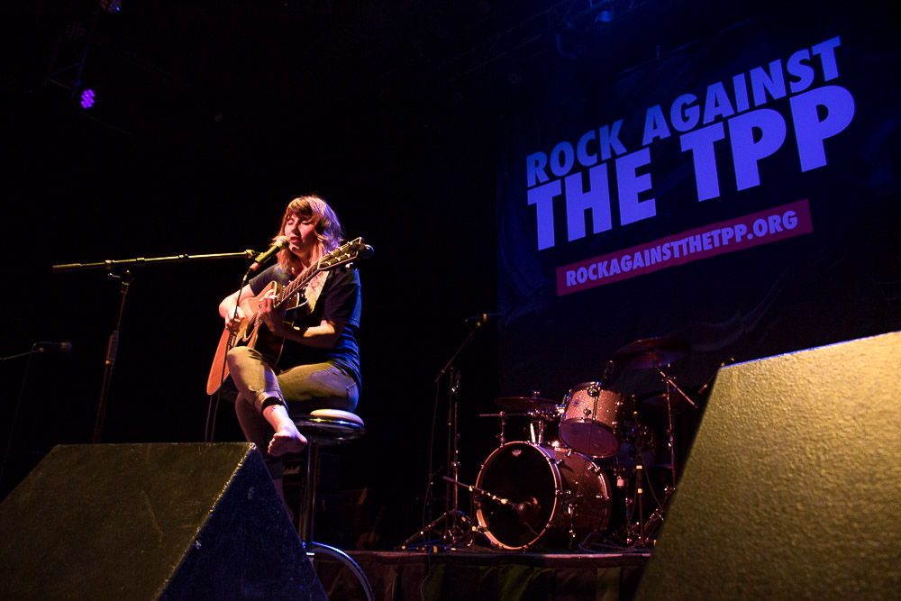 Lia Rose at Rock Against the TPP (Chloe Aiello/Denverite)