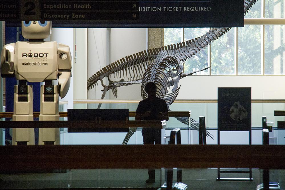 A silhouette at the Denver Museum of Nature and Science. (Kevin J. Beaty/Denverite)  denver museum of nature and science; dmns; denver film society; dfs; movie; science; mars; denver; kevinjbeaty; colorado; denverite