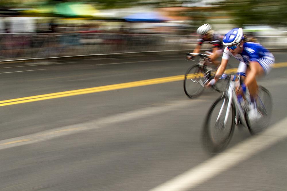 Cari Higgins leads the pack. The Bannock Street Criterium. July 31, 2016. (Kevin J. Beaty)  biking; bike; cycling; golden triangle; bannock street criterium; denver; colorado; sports; kevinjbeaty; denverite;