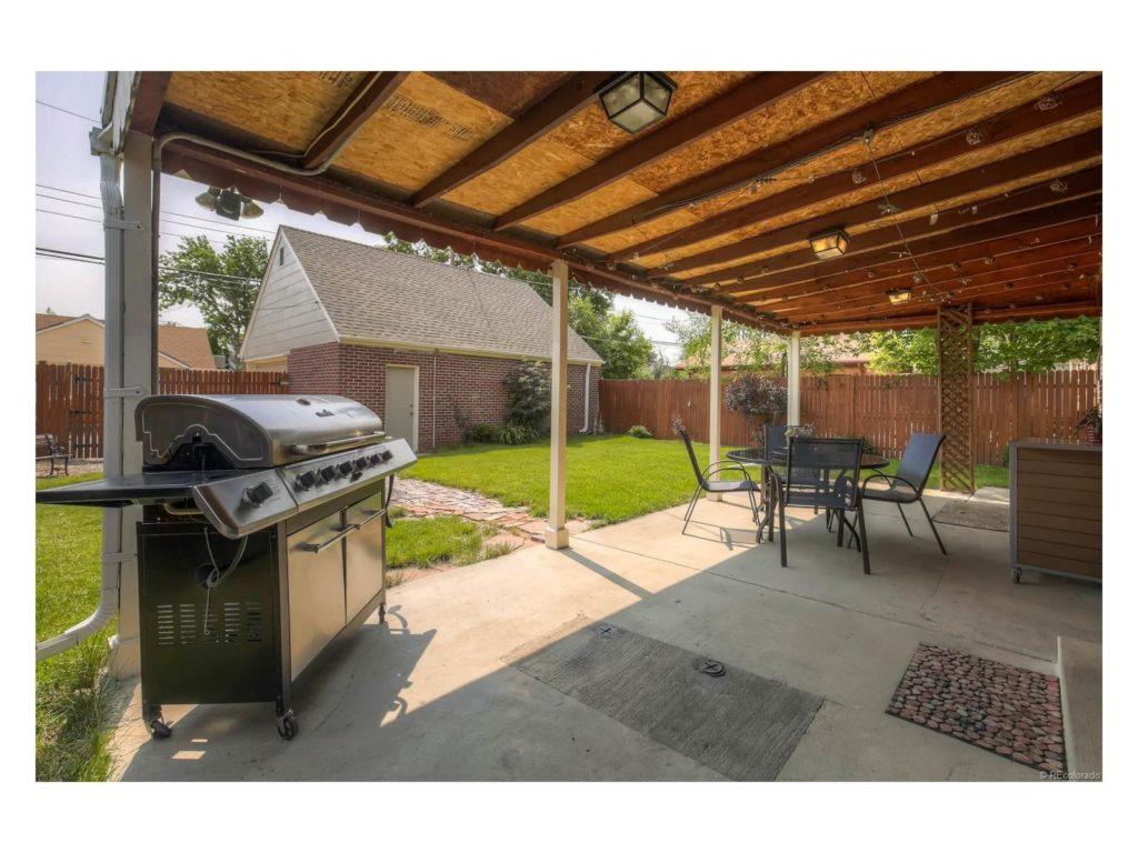 The back porch of 3740 Eudora Street. (Courtesy of Keller Williams DTC)