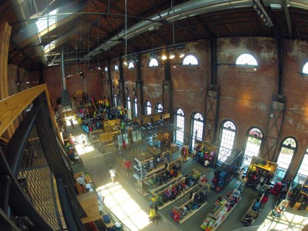 A view from inside REI's flagship store in Denver. (Richard Masoner/Flickr)