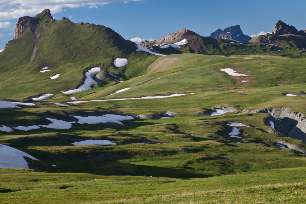 The Uncompahgre Wilderness in Colorado consists of gently rolling alpine tundra meadows, rugged, mountainous landscapes, and densely-forested canyons within the north-central San Juan Mountains. (Bureau of Land Management)