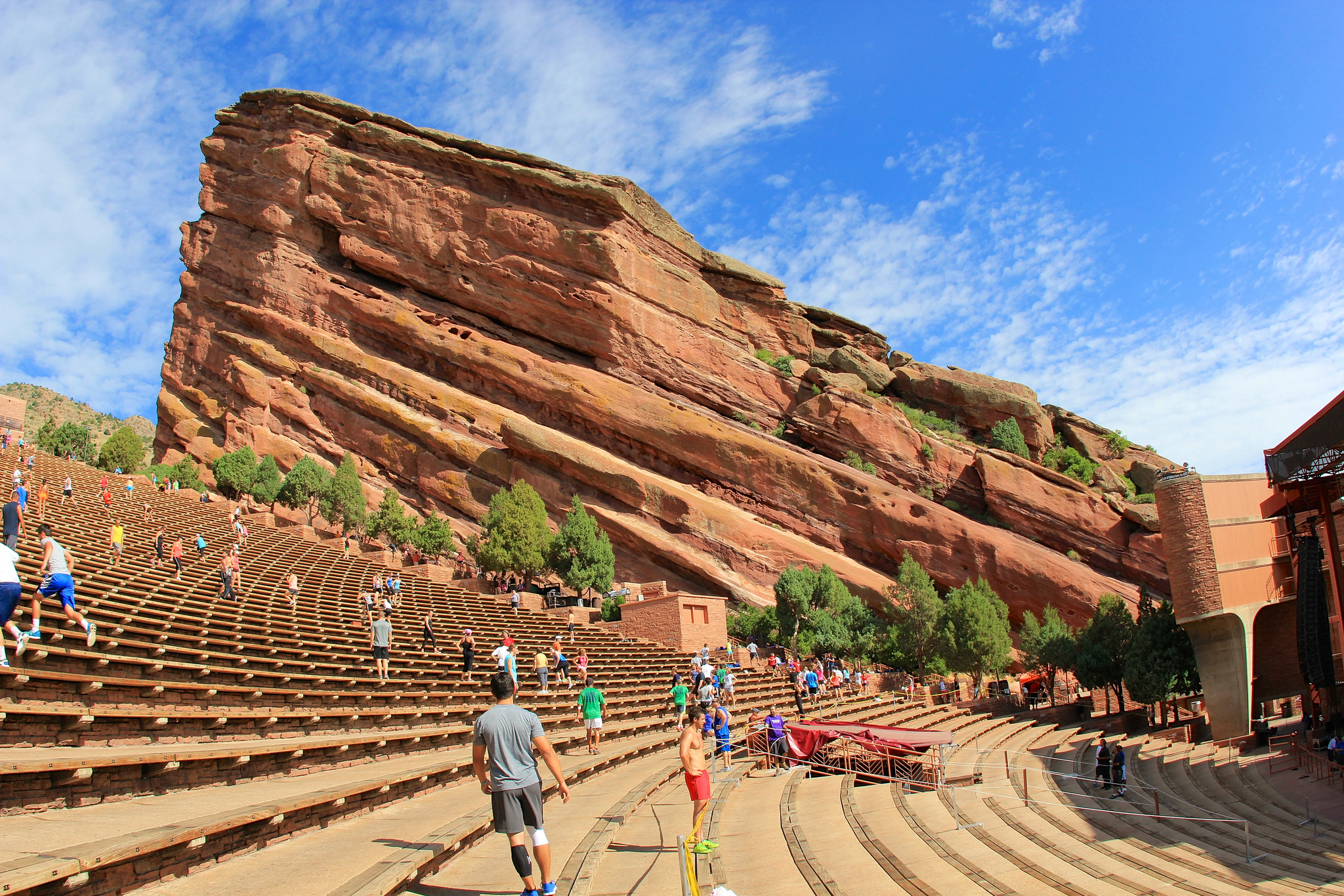 Exercise at Red Rocks Amphitheatre. (Flickr/daveynin)