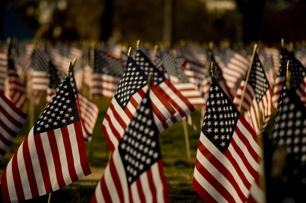 American flags (Lipton sale/Wikimedia Commons)