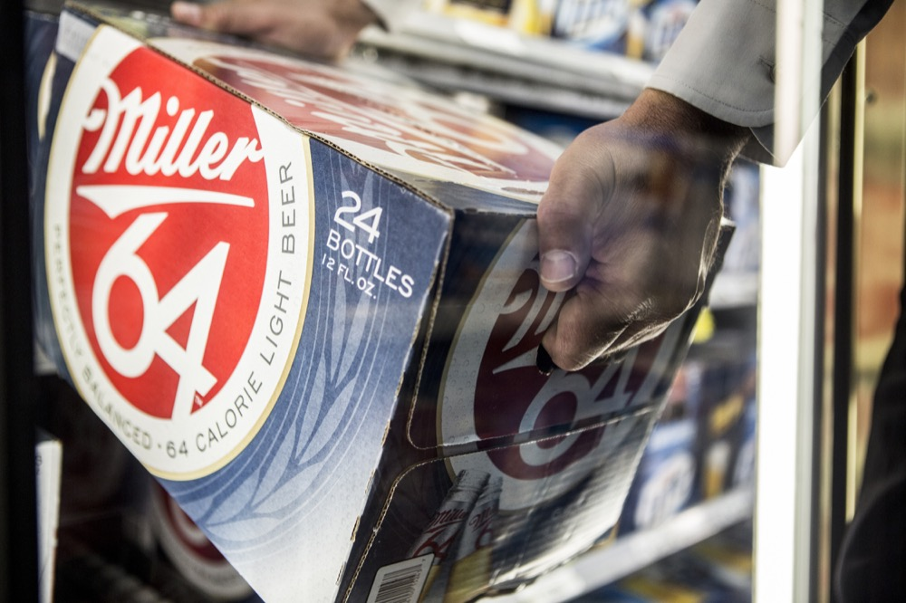 Miller64 on display at a store in the U.S. (Tom Parker/Courtesy of SABMiller)