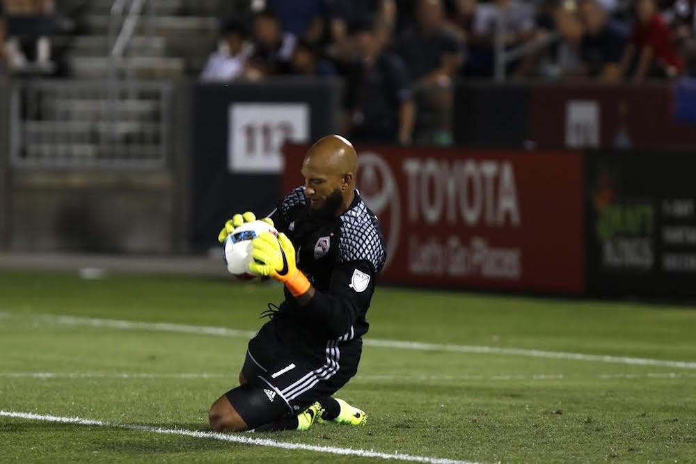 Colorado Rapids Tim Howard during game against FC Dallas at Dick's Sporting Goods Park, July 23, 2016. (Photo by Jessica Taves)