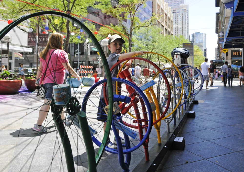 Wheels Go Round by Kate Davis Studio (Larry Laszlo/CoMedia)