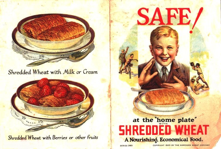 A vintage Shredded Wheat cereal advertising flyer cover.(LizCraftTherapy/Flickr)