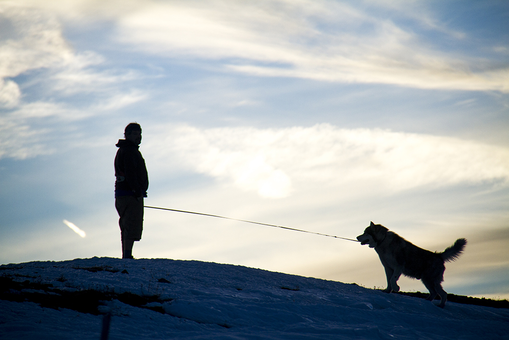 A dog and his human at Rocky Mountain National Park. (Kevin J. Beaty)  rocky mountain national park; rmnp; wilderness; kevinjbeaty; denverite; colorado;
