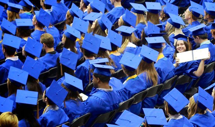 A high school graduation. (Jeremy Jenum/Flickr)