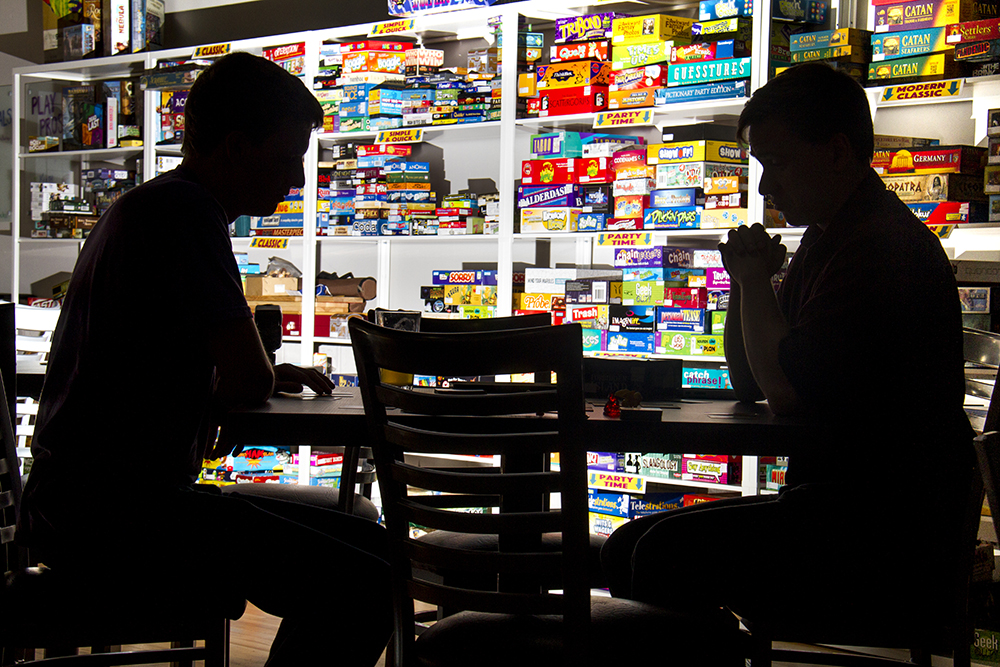 Board Game Republic boasts over 600 board games. (Kevin J. Beaty/Denverite)  board game republic; games; bar; food; night life; kevinjbeaty; denverite; denver; colorado;