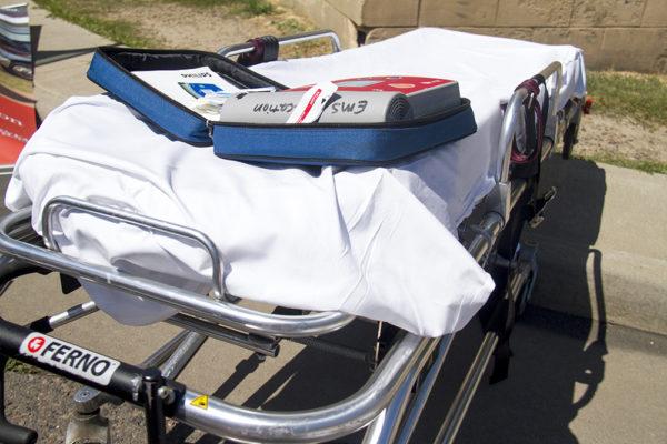 A stretcher. (Kevin J. Beaty/Denverite)