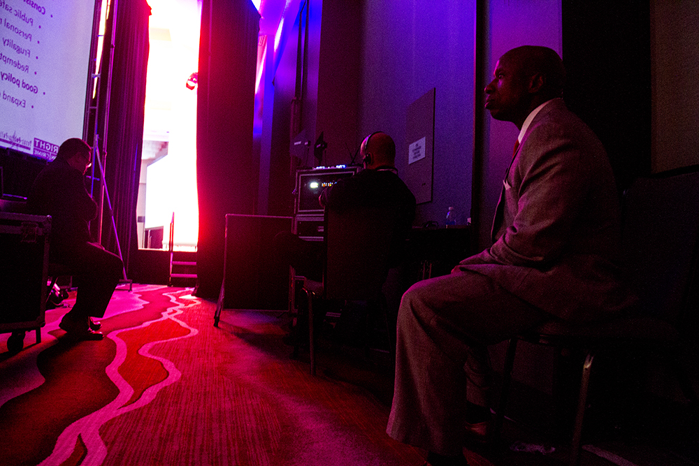 Darryl Glenn waits before speaking at the Red State Gathering in downtown Denver. August 12, 2016. (Kevin J. Beaty/Denverite)  darryl glenn; republican; election; vote; politics; denver; colorado; kevinjbeaty; denverite;