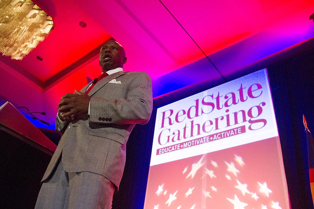 Darryl Glenn speaks at the Red State Gathering in downtown Denver. August 12, 2016. (Kevin J. Beaty/Denverite)  darryl glenn; republican; election; vote; politics; denver; colorado; kevinjbeaty; denverite;