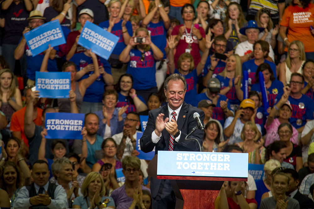 Ed Perlmutter at a rally for Hillary Clinton in Commerce City. August 3, 2016. (Kevin J. Beaty/Denverite)  ed perlmutter; hillary clinton; politics; election; vote; kevinjbeaty; denver; denverite; commerce city; colorado;