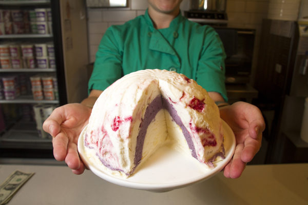 One of High Point Creamery's Ice Cream Bombes in their Hilltop shop.  (Kevin J. Beaty/Denverite)  ice cream; food; denver; colorado; kevinjbeaty; denverite