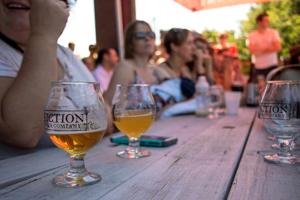 Beer drinkers and theater go-ers are one in the same to the Wit. (Chloe Aiello/Denverite)