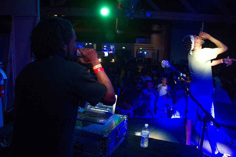 Hip hop artist Waldo on stage at Queen City Fest. Aug. 14, 2016. (Kevin J. Beaty/Denverite)  queen city fest; music; arts; concert; kevinjbeaty; denver; denverite; colorado;