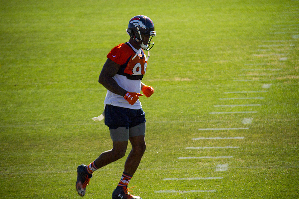 Demaryius Thomas Denver Broncos Training Camp. (Kevin J. Beaty/Denverite)  broncos; football; training camp; sports; kevinjbeaty; denver; denverite; colorado;