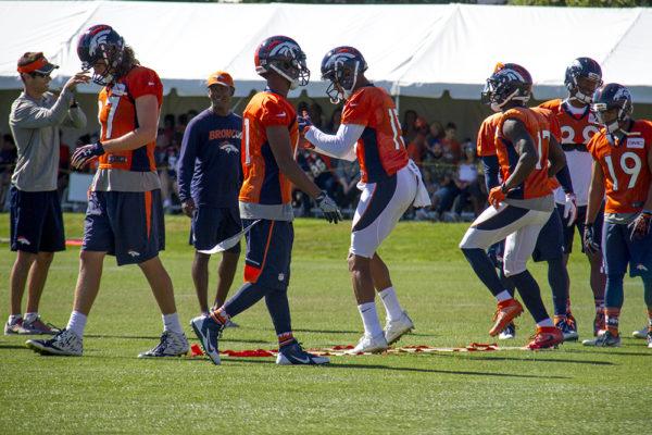 Denver Broncos Training Camp. (Kevin J. Beaty/Denverite)  broncos; football; training camp; sports; kevinjbeaty; denver; denverite; colorado;