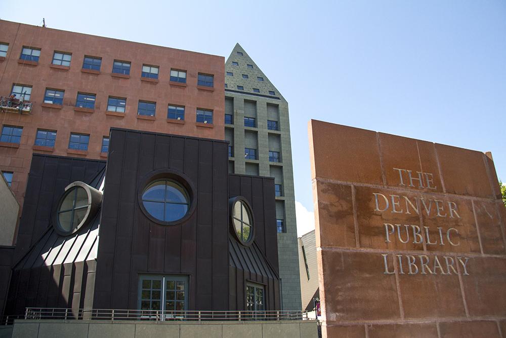 The Denver Public Library. (Kevin J. Beaty/Denverite)   dplbroadway; downtown library building