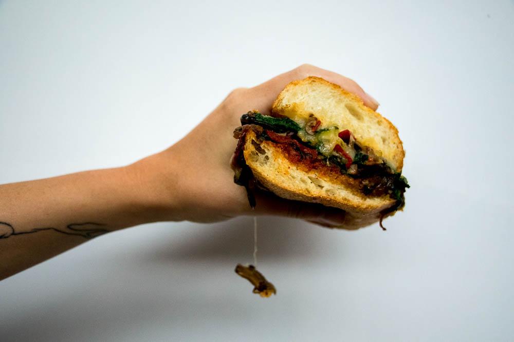 Veggie sandwich from Majestic Deli. (Chloe Aiello/Denverite)
