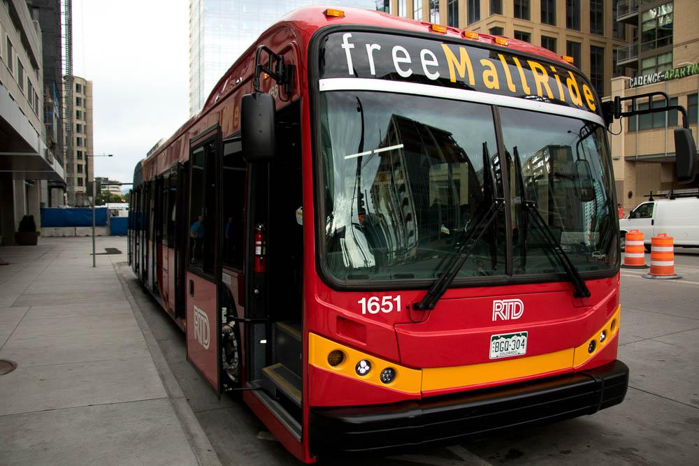 RTD commissioned new MallRide buses. (Chloe Aiello/Denverite)