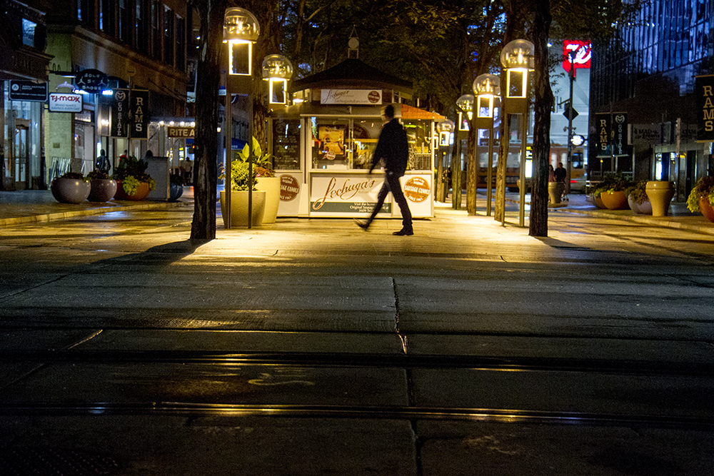 Evening over the 16th Street Mall. (Kevin J. Beaty/Denverite)
