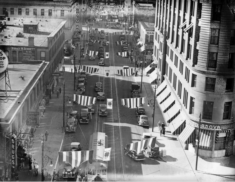 17th Street in the 1930s. (Denver Public Library/Harry M. Rhoads photograph collection/Rh-5368)