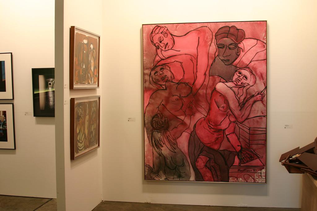A piece of Grace Hartigan's work hangs in Grimaldis Gallery in Washington D.C. (Mark Barry/Flickr)