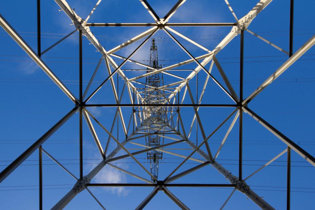 Electricity pylon from below. (Lennart Tange/Flickr)