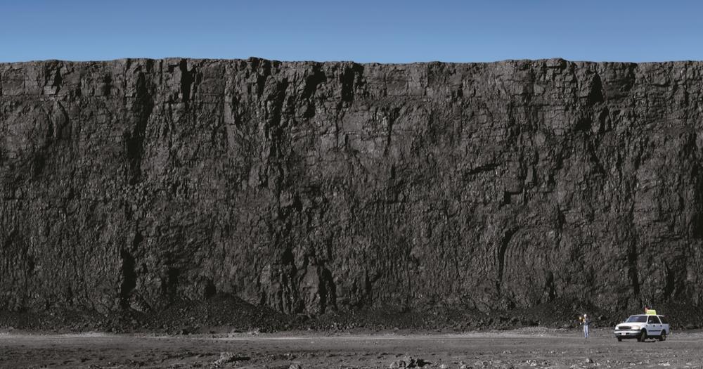 A coal seam at a coal mine. (Peabody Energy/Wikimedia)