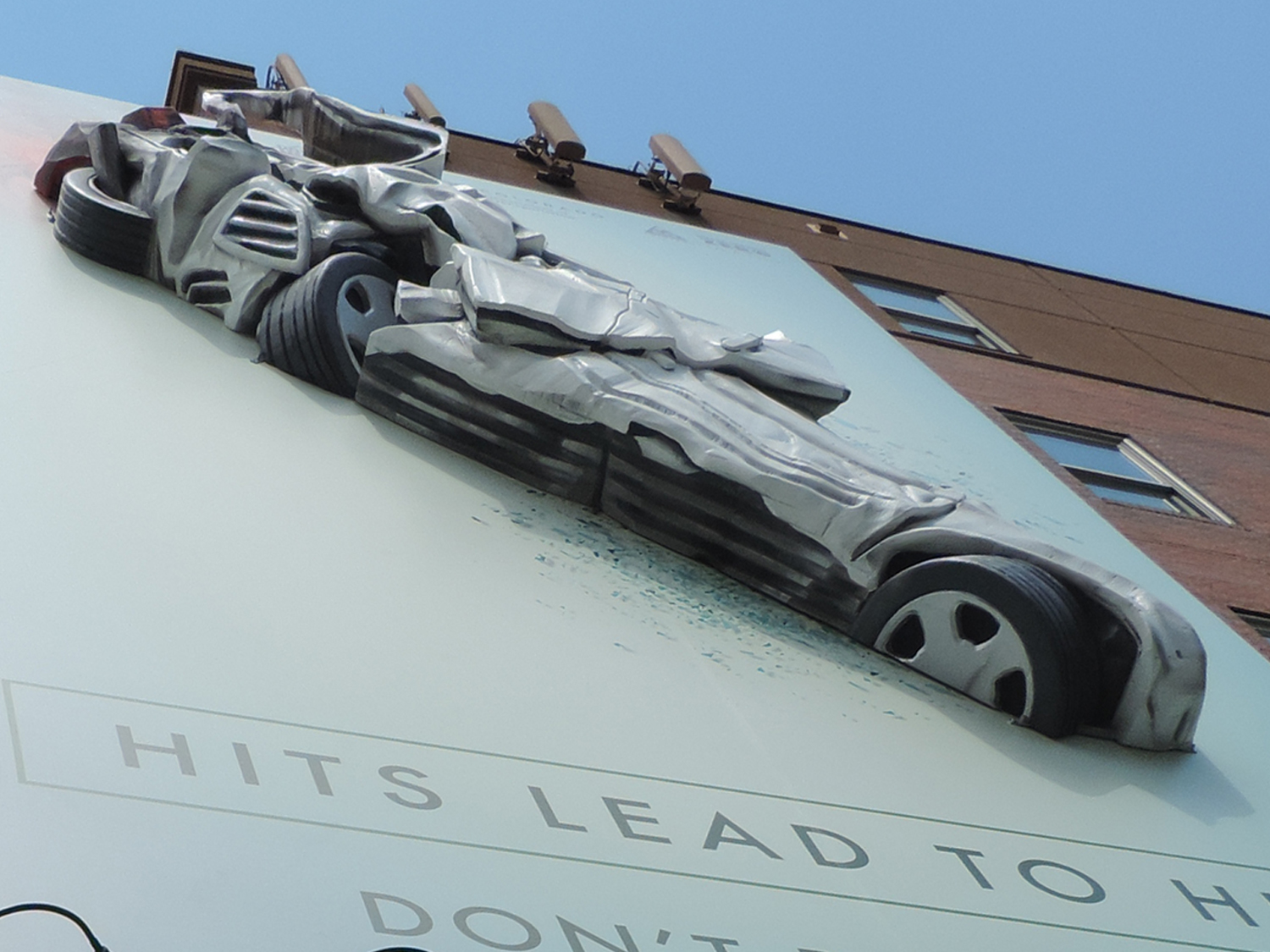 The giant car-joint hybrid billboard. (Courtesy of CDOT)