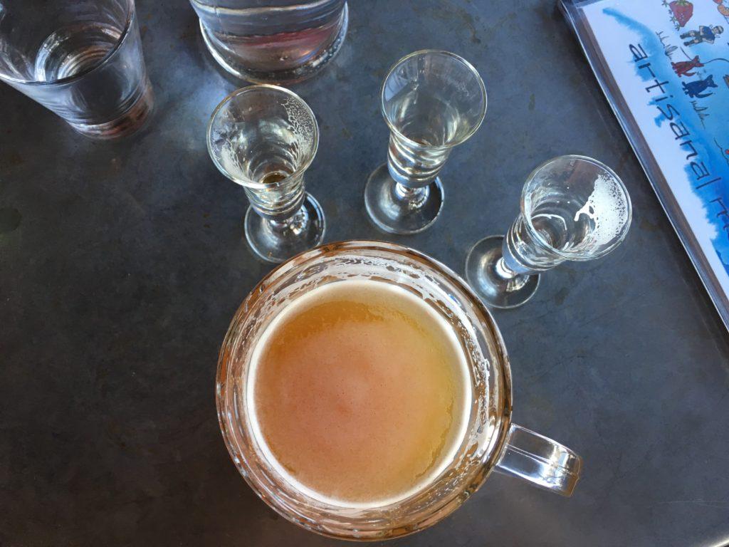 A FLO IPA on cask at Trinity Brewing in Colorado Springs. (Dave Burdick/Denverite)