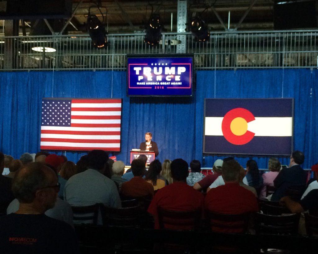 Weston Imer, 12, founded Colorado Kids for Trump. (Chloe Aiello/Denverite)