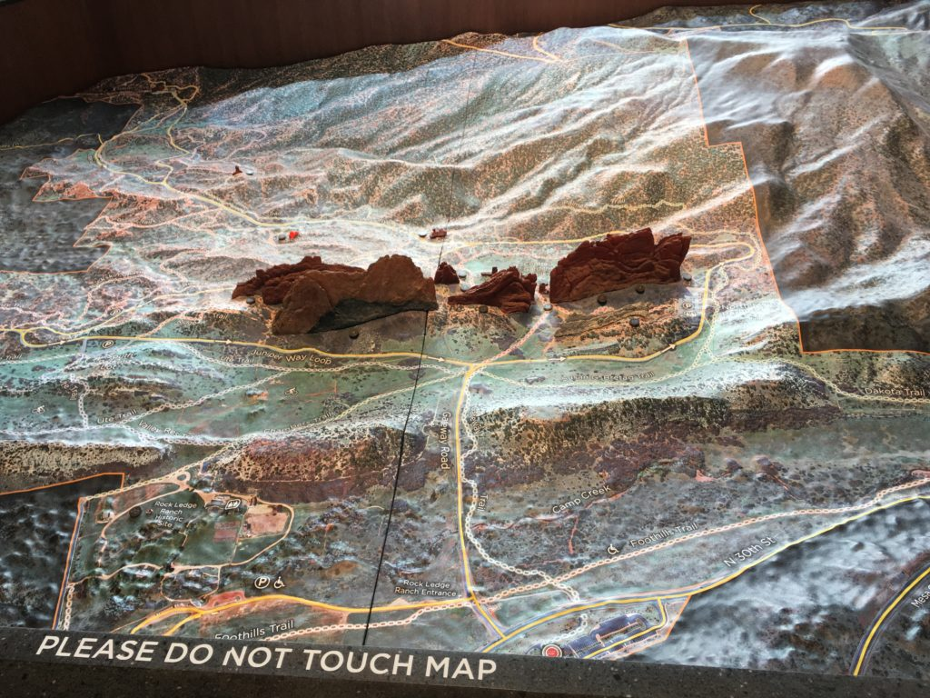 Here's a scale model of Garden of the Gods in the visitor center. (Dave Burdick/Denverite)