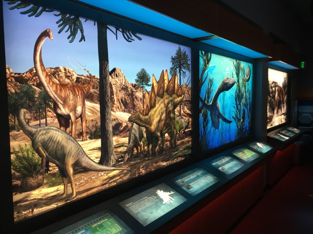 There's plenty to look at if your kids are dinosaur kids at the Garden of the Gods visitor center. (Dave Burdick/Denverite)