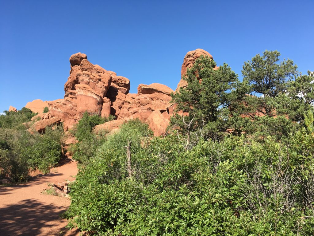 A view of Garden of the Gods from Palmer Trail. (Dave Burdick/Denverite)
