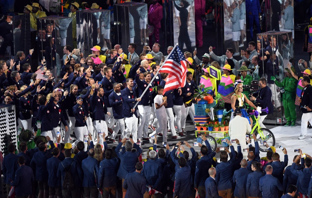 2016 Rio Olympics opening ceremony team USA (U.S. Army/Flickr)
