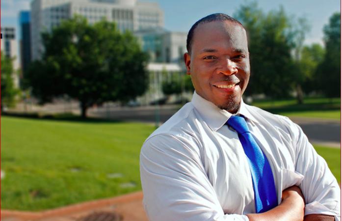 Aurora Public Schools board member Eric Nelson in a campaign photo. ( Photo by Nelson for Colorado )