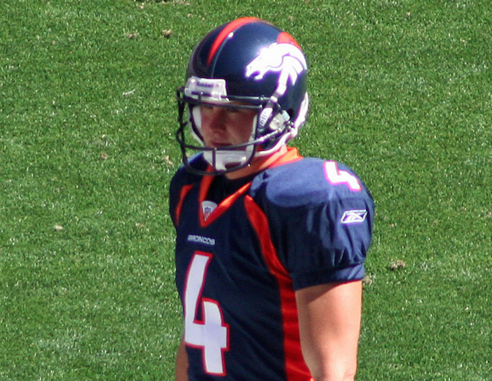 Britton Colquitt's days as the Broncos punter are numbered. Pour some out. (Jeffrey Beall/Flickr)